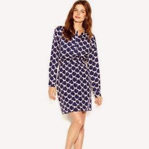 Long Sleeve Horse Print Dress: Size M